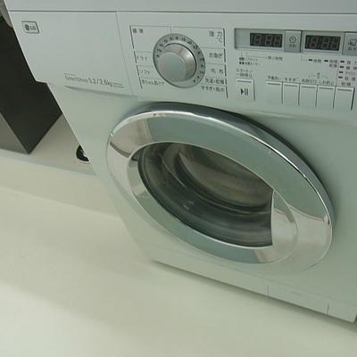 ドラム式洗濯機、乾燥機付き※写真は別部屋です
