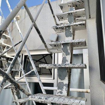 【4F】ルーフバルコニーへの階段は狭めなので慎重に!