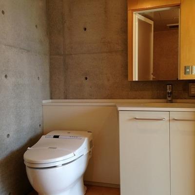 トイレ洗面は一緒(写真は別室)