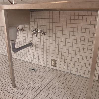 このスペースが洗濯機置場 ※写真は別部屋です
