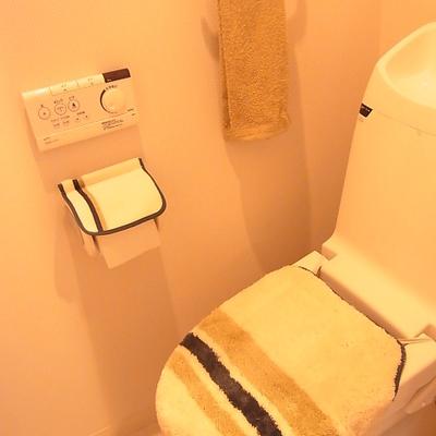 トイレは清潔です