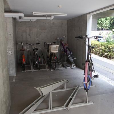 駐輪場の様子