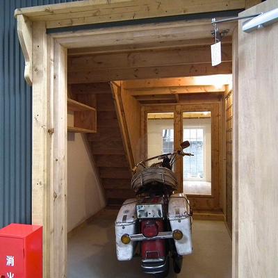 ガレージの入り口