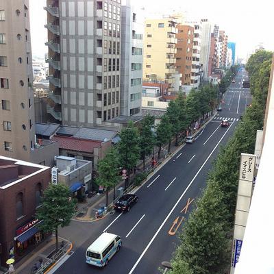 眺めはこんな感じ(写真は7階からの眺めです)