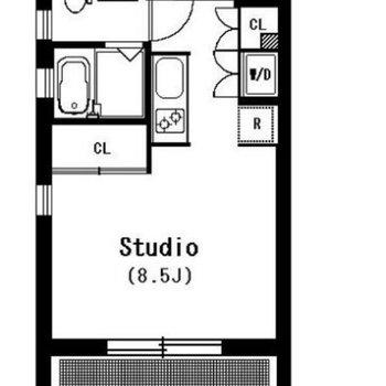 床暖房付きの広々空間。