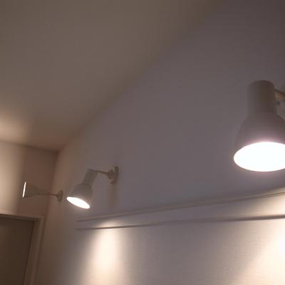 廊下のスポットライト、これもいい!!