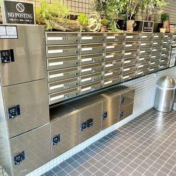 宅配ボックスで不在時の荷物も受け取れますよ。