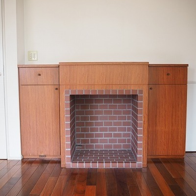 5階の暖炉です!すごい。