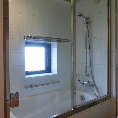 バスルームは浴槽にシャワーのあるコンパクトなものです