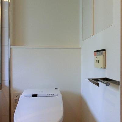 ペーパーホルダーがクールなウォシュレットのトイレ!
