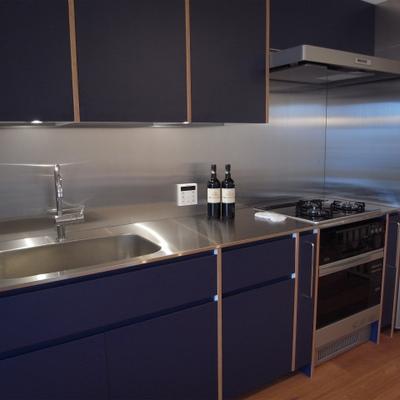 キッチンも最新型でオーブン付き。食洗機も相談可 ※写真は別部屋