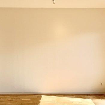 きれいな白壁に映像が投影できそうですね。