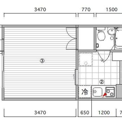 約8帖の居室スペース。正方形は使いやすい!