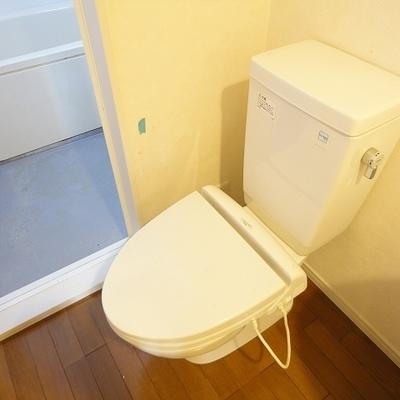 トイレと脱衣所は同じスペースにあります