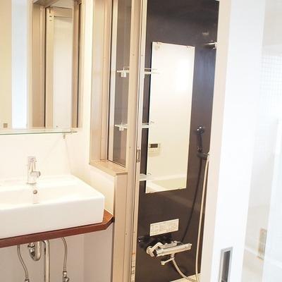 洗面台の隣が浴室です※写真は別部屋