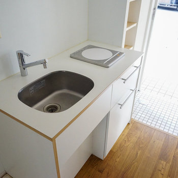 キッチンはIH1口です。※写真は前回募集時のもの