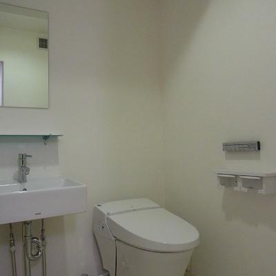 お洒落な洗面台とタンクレストイレ