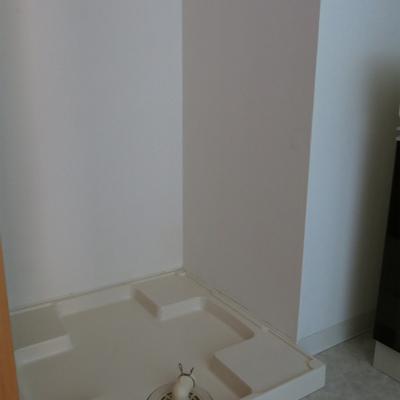 洗濯機置き場。