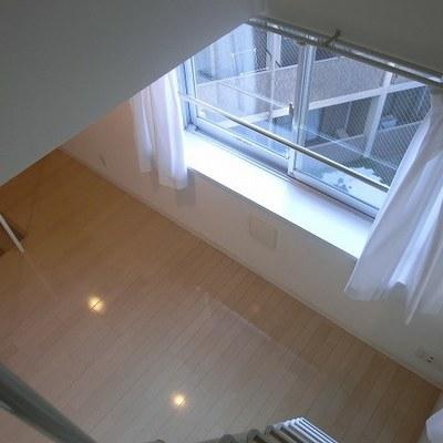 ロフトからの眺め※写真は別部屋です。