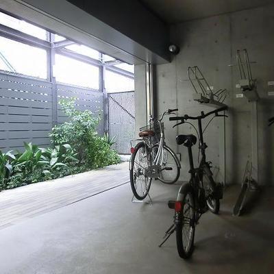 駐輪場もシッカリしてます。