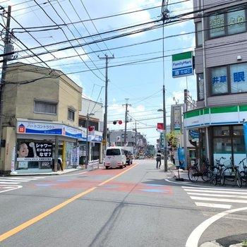 最寄りの上井草駅周辺。穏やかな雰囲気でしたよ。