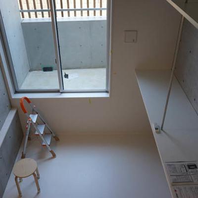 見下ろしたところ。わくわくする空間です。※写真は1階反転間取り別部屋のものです