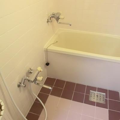 お風呂はレトロ。