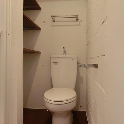 収納力のあるトイレ空間