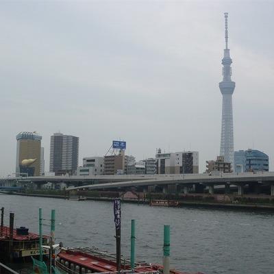 隅田川を渡ってマンションへ!