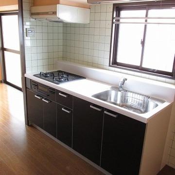 キッチンが新品です。気持ちいいですね!