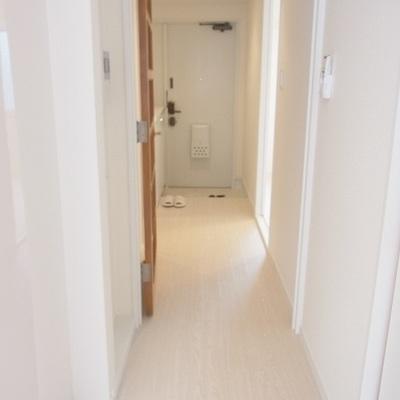 玄関までの廊下もまぶしい!※写真は別室