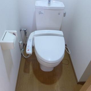 トイレはウォシュレット付きで嬉しい!