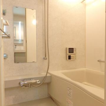 お風呂にはテレビが付いていますね
