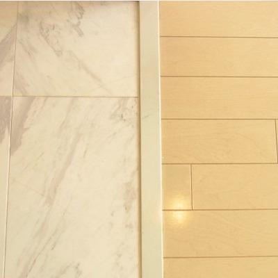 大理石の玄関※画像は別室です