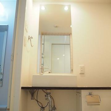 いいかんじのデザインの洗面台※写真は別のお部屋です