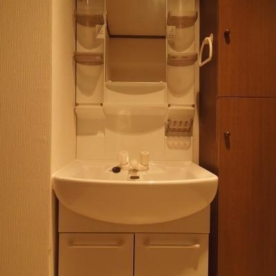 洗面とトイレは一室空間に