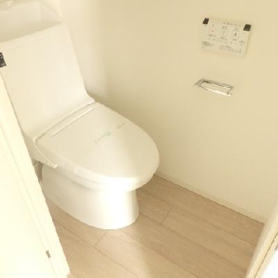 綺麗なトイレ、ウォシュレット付き