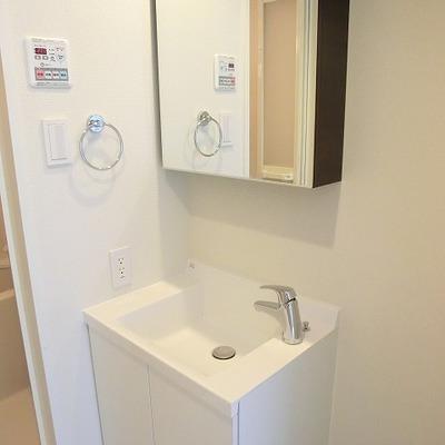 独立洗面台もデザイン性があります。