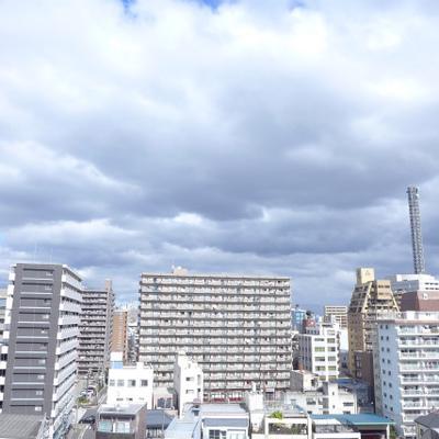 眺望goodです!空が広い!