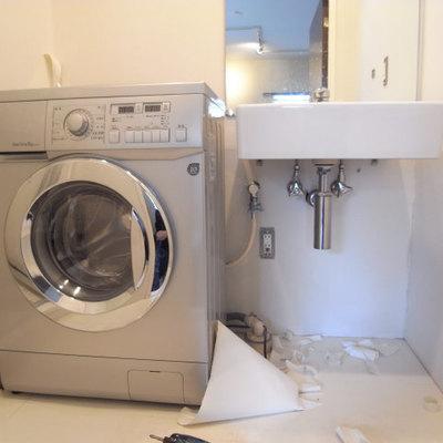 ドラム式洗濯機付き!