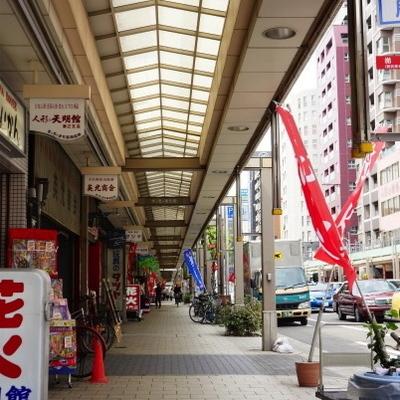 松屋町駅からの商店街