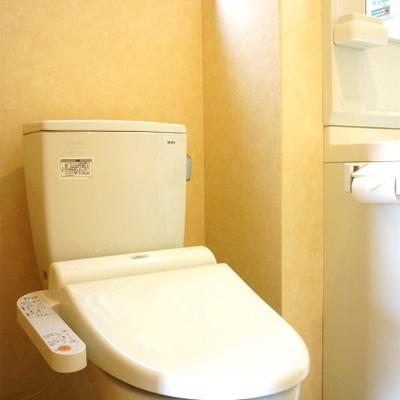 脱衣所にトイレがあります