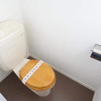 トイレは木製便座を!