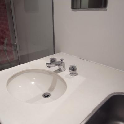 小さめの洗面台※写真2階の同間取り別部屋です