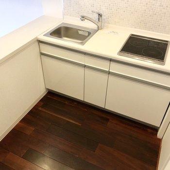 左側のカウンターは調理台としても使えそうですね。