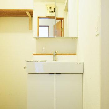 洗面台も可愛いデザイン〇