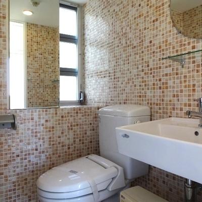 モザイクタイルの洗面所!※写真は前回募集時のものです