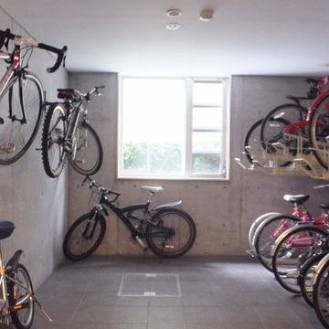 駐輪場はこちら。 ※写真は前回募集時のものです。