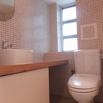 モザイクタイルの洗面所! ※写真は前回募集時のものです。