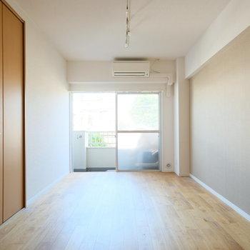 どどーんと大きめなお部屋と収納!※写真はクリーニング、通電前のものです